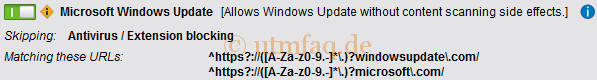 Web Filtering Options Exception Microsoft Windowsupdate