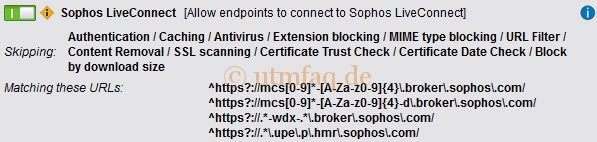 Web Filtering Options Exception Sophos Endpoint Update